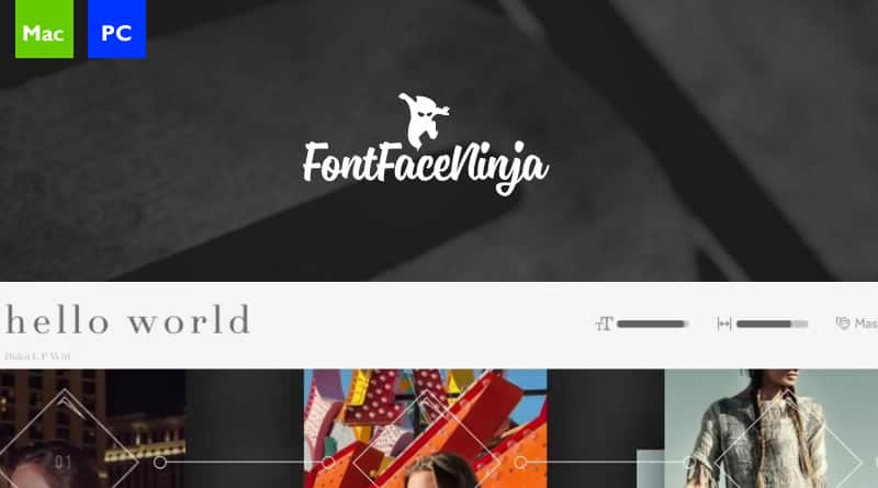 Free for Browser: Fontface Ninja